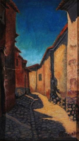 """""""Calle de la casa del pintor""""."""